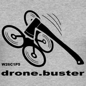 drone-buster - Slim Fit T-skjorte for menn