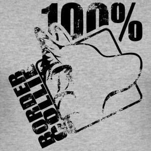 100 Border collie - Tee shirt près du corps Homme