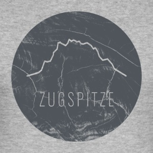 Zugspitze contour on wooden plate - Men's Slim Fit T-Shirt
