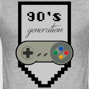 90er Generation - Männer Slim Fit T-Shirt