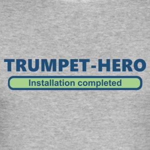 trumpet hero installation completed 2 (1705b) - Men's Slim Fit T-Shirt