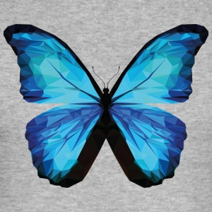 BUTTERFLY POLYGON in blue - Men's Slim Fit T-Shirt