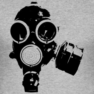 gas-mask1 - Herre Slim Fit T-Shirt