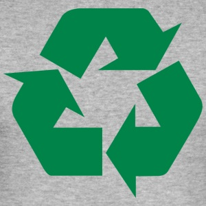 Earth Day Recycle - Männer Slim Fit T-Shirt