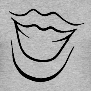 Laughing Mouth - Herre Slim Fit T-Shirt
