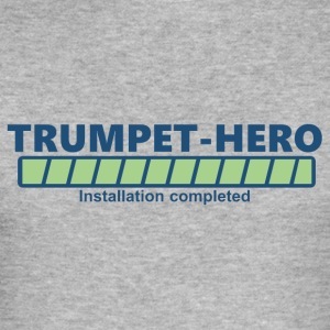 trumpet hero installation completed (1704B) - Men's Slim Fit T-Shirt