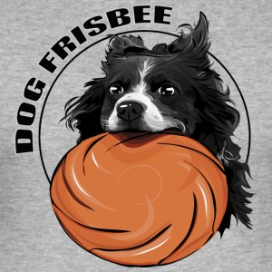 DOG FRISBEE Border Collie - Slim Fit T-shirt herr