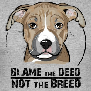 AMERICAN STAFFORDSHIRE TERRIER blame the deed - Men's Slim Fit T-Shirt
