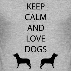 Hunde Keep Calm - Männer Slim Fit T-Shirt