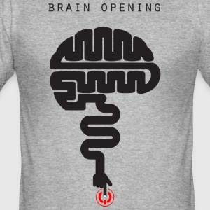 T-shirt-brain_file_stampa - Tee shirt près du corps Homme