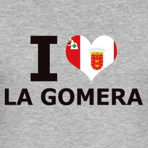 I LOVE LA GOMERA FLAG - Men's Slim Fit T-Shirt