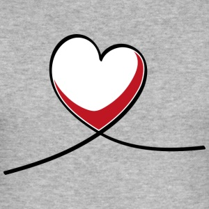heart swing - Slim Fit T-shirt herr