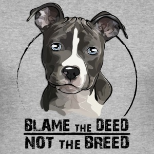 AMERICAN STAFFORDSHIRE TERRIER blame the deed - Männer Slim Fit T-Shirt