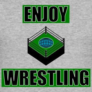 ENJOY_WRESTLING_GREEN_DesASD - Slim Fit T-shirt herr