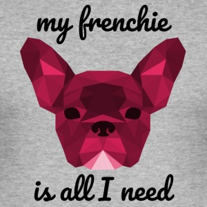 Low rood Poly Frenchie - slim fit T-shirt