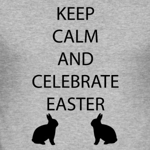 Easter Keep Calm - Men's Slim Fit T-Shirt