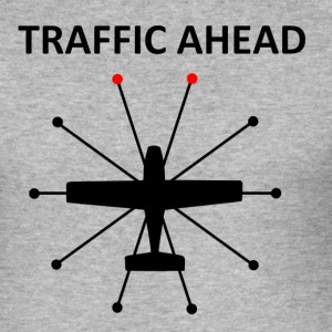 Traffic Ahead - Collision - Men's Slim Fit T-Shirt