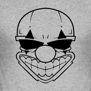 evilclownBadSmile Black - Men's Slim Fit T-Shirt