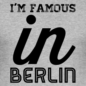 im famous in berlin - Men's Slim Fit T-Shirt