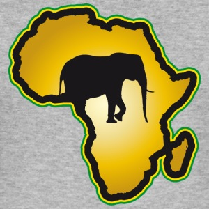 Elephant Safari Kenya Serengeti Roots Reggae - Slim Fit T-shirt herr