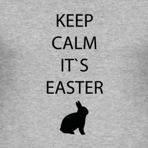 Ostern-Keep calm - Männer Slim Fit T-Shirt