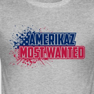 Amerikaz Most Wanted - Männer Slim Fit T-Shirt