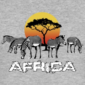 Zebra-Afrika Sunset Wildlife Safari Kenya - Slim Fit T-skjorte for menn
