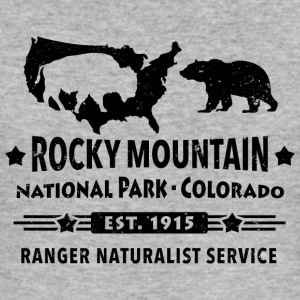 Bison Grizzly Rocky Mountain National Park Berg - Slim Fit T-shirt herr