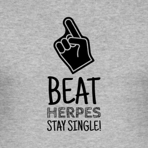 Hold Single - Fight Herpes - Herre Slim Fit T-Shirt