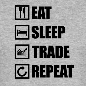 Eat Sleep TRADE REPEAT - Maglietta aderente da uomo