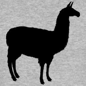 Lama / Alpaca silhouette for America fans - Men's Slim Fit T-Shirt