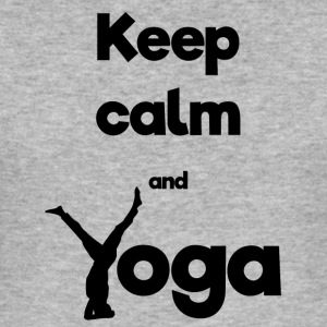 Houd kalm en Yoga - slim fit T-shirt