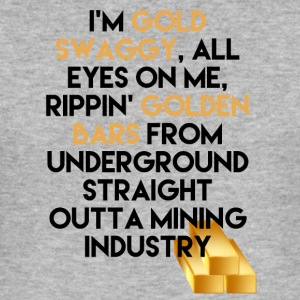 Mining Jeg er Gold swaggy, All Eyes On Me, Rippin' - Slim Fit T-skjorte for menn