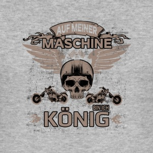 På min maskine I AM KING! - Herre Slim Fit T-Shirt