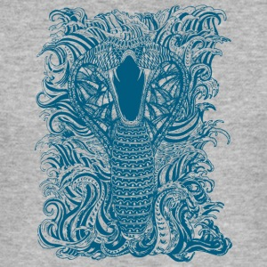 Snake-and-Water-in-Blue - Men's Slim Fit T-Shirt