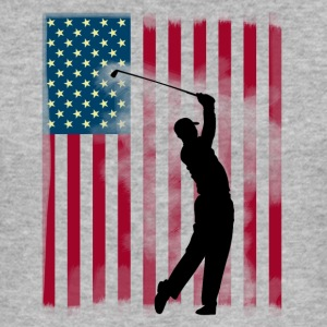 golf golfspeler bushland USA Team America vlag spor - slim fit T-shirt