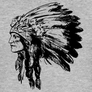 Indian face American Illustration - Men's Slim Fit T-Shirt