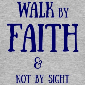 Walk by Faith - Men's Slim Fit T-Shirt