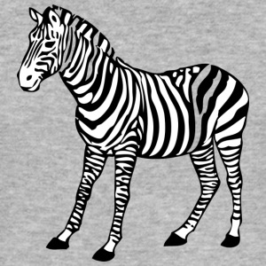 Zebra black - Men's Slim Fit T-Shirt