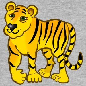 Wild cat yellow black - Männer Slim Fit T-Shirt
