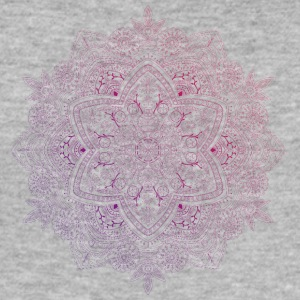 Mandala hand drawn, in red and purple tones - Men's Slim Fit T-Shirt