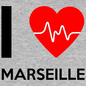 I Love Marseille - Jeg elsker Marseille - Herre Slim Fit T-Shirt