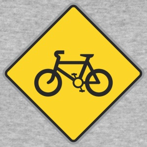Road Sign fietsen geel - slim fit T-shirt
