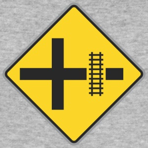Road Sign Trein manier geel - slim fit T-shirt