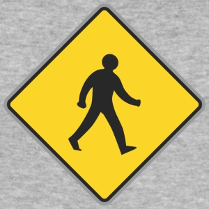 Road Sign walking man yellow 2 - Men's Slim Fit T-Shirt