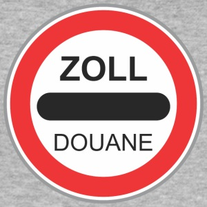 Road sign zoll douane - Men's Slim Fit T-Shirt