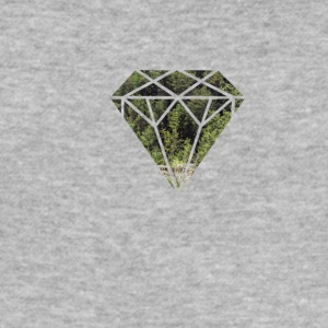 tre diamant - Slim Fit T-skjorte for menn