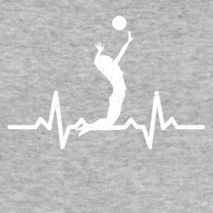 My heart beats for Volleyball - Men's Slim Fit T-Shirt