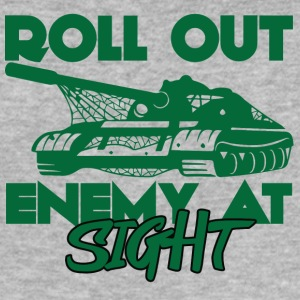 Militaire / Soldat: Roll Out Enemy At Sight - Tee shirt près du corps Homme