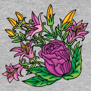 1purple Blumen - Männer Slim Fit T-Shirt